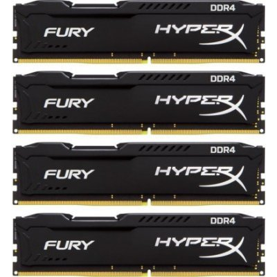 Модуль оперативной памяти ПК Kingston HX421C14FBK4/16 16Gb DDR4 (HX421C14FBK4/16)Модули оперативной памяти ПК Kingston<br>Kingston 16GB 2133MHz DDR4 Non-ECC CL14 DIMM (Kit of 4)HyperX FURY Black Series<br>