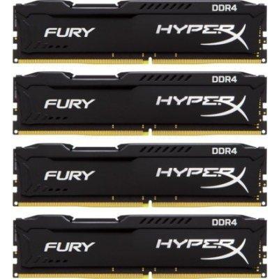 Модуль оперативной памяти ПК Kingston HX421C14FBK4/16 16Gb DDR4 (HX421C14FBK4/16)Модули оперативной памяти ПК Kingston<br>Kingston 16GB 2133MHz DDR4 Non-ECC CL14 DIMM (Kit of 4)HyperX FURY Black Series<br>