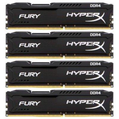 Модуль оперативной памяти ПК Kingston HX424C15FBK4/16 16Gb DDR4 (HX424C15FBK4/16)Модули оперативной памяти ПК Kingston<br>Kingston 16GB 2400MHz DDR4 Non-ECC CL15 DIMM (Kit of 4)HyperX FURY Black Series<br>