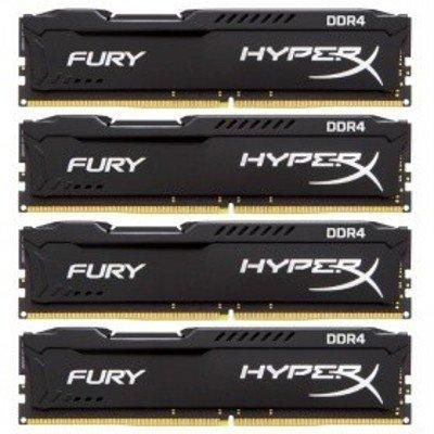 Модуль оперативной памяти ПК Kingston HX426C15FBK4/16 16Gb DDR4 (HX426C15FBK4/16)Модули оперативной памяти ПК Kingston<br>Kingston 16GB 2666MHz DDR4 Non-ECC CL15 DIMM (Kit of 4)HyperX FURY Black Series<br>