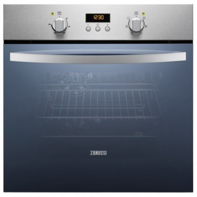 Электрический духовой шкаф Zanussi ZZB525601X (ZZB525601X)Электрические духовые шкафы Zanussi<br>электрическая независимая духовка<br>59 х 59.4 x 56.8 см<br>поворотные переключатели<br>класс A по энергопотреблению<br>дисплей<br>конвекция<br>гриль<br>