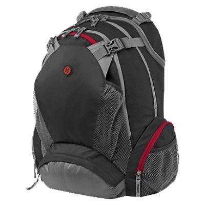Рюкзак для ноутбука HP Full Featured Backpack 17.3 (F8T76AA)Рюкзаки для ноутбуков HP<br>рюкзак<br>для 17 ноутбуков<br>из синтетических материалов<br>отделение-органайзер<br>водонепроницаемый материал<br>