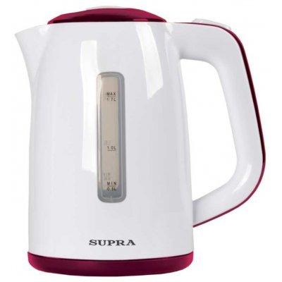 Электрический чайник Supra KES-1728 белый/красный (KES-1728 белый/красный) электрический чайник supra kes 2008 kes 2008