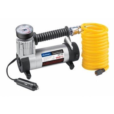 Автомобильный компрессор Rolsen RCC-250 (1-RLCA-RCC-250)Автомобильные компрессоры Rolsen<br>Максимальное давление 140 PSI Объем воздуха 35 л/мин Количество цилиндров 1 Ток без нагрузки &amp;lt; 1.9 A Максимальный ток 15 А Длина шланга 3 м<br>