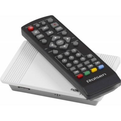 ТВ-тюнер внешний Rolsen RDB-522w белый (1-RLDB-RDB-522W)ТВ-тюнеры внешние Rolsen<br>Ресивер DVB-T2 Rolsen RDB-522w белый<br>