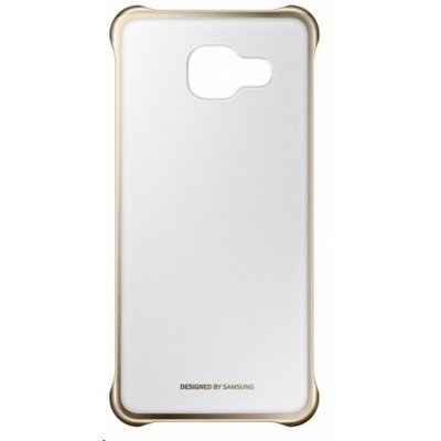 Чехол для смартфона Samsung для Galaxy A3 (2016) Clear Cover золотистый/прозрачный (EF-QA310CFEGRU) (EF-QA310CFEGRU) чехол клип кейс samsung protective standing cover great для samsung galaxy note 8 темно синий [ef rn950cnegru]