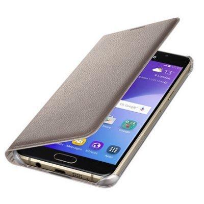 Чехол для смартфона Samsung для Galaxy A5 Flip Wallet A510 золотистый (EF-WA510PFEGRU) (EF-WA510PFEGRU) чехол samsung flip wallet ef wg900bgegru для samsung galaxy s5 g900 зеленый