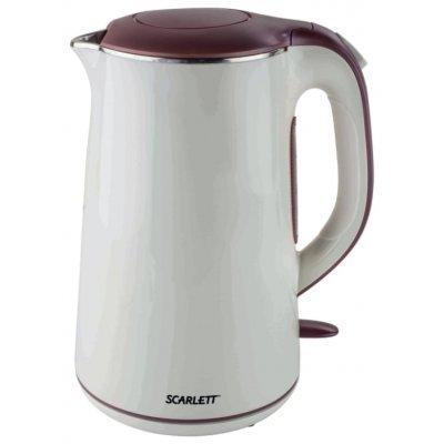 Электрический чайник Scarlett SC-EK21S06 (SC-EK21S06)Электрические чайники Scarlett<br>чайник<br>объем 1.5 л<br>мощность 2200 Вт<br>закрытая спираль<br>установка на подставку в любом положении<br>корпус из стали и пластика<br>ненагревающийся корпус<br>индикация включения<br>вес 1.4 кг<br>