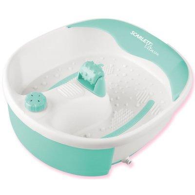 Массажная ванночка Scarlett SC-FM20101 (SC-FM20101)Массажные ванночки Scarlett<br>Гидромассажная ванночка для ног Scarlett SC-FM20101 45Вт белый/бирюзовый<br>