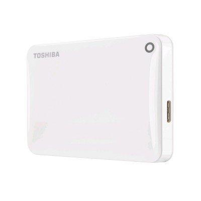 Внешний жесткий диск Toshiba HDTC805EW3AA 500Gb (HDTC805EW3AA)Внешние жесткие диски Toshiba<br>Жесткий диск Toshiba USB 3.0 500Gb HDTC805EW3AA Canvio Connect II 2.5 белый<br>