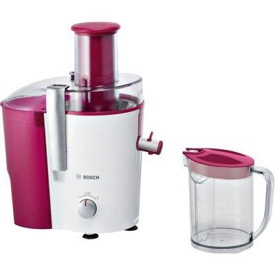 Соковыжималка Bosch MES25C0 (MES25C0)Соковыжималки Bosch<br>тип: центробежная; мощность: 700Вт; резервуар для мякоти: 2мл; резервуар для сока: 1.25мл; количество скоростей: 2; автоматическая блокировка; прямая подача сока; «капля-stop»; отсек для шнура; щетка для чистки; материал корпуса: пластик; цвет: белый и бордовый<br>
