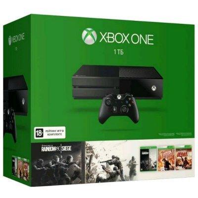 Игровая консоль Microsoft Xbox One 1 TB + Rainbow 6 Siege + R6V, R6V2 (KF7-00121)Игровые консоли Microsoft<br><br>