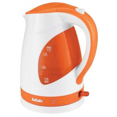 Электрический чайник BBK EK1700P белый/оранжевый (EK1700P белый/оранжевый) чайник электрический bbk ek1705s оранжевый