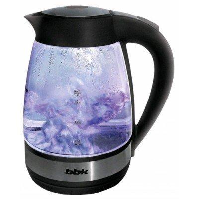 Электрический чайник BBK EK1721G черный (EK1721G черный)Электрические чайники BBK<br>Чайник электрический BBK EK1721G 2200Вт, 1,7литра, жаропрочное стекло, дисковый нагр. элемент, Английский контроллер,LED-подсветка,черный<br>