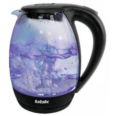 Электрический чайник BBK EK1720G черный (EK1720G черный)Электрические чайники BBK<br>Чайник электрический BBK EK1720G 2200Вт, 1,7литра, жаропрочное стекло, дисковый нагр. элемент, Английский контроллер,LED-подсветка,черный<br>