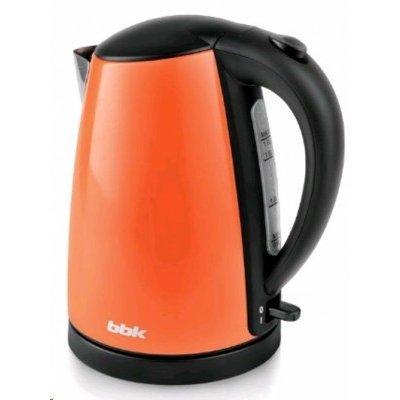 Электрический чайник BBK EK1705S оранжевый (EK1705S оранжевый)Электрические чайники BBK<br>Чайник электрический BBK EK1705S 2200Вт, 1,7литра, нержавеюшая сталь, дисковый нагр. элемент, Английский контроллер,оранжевый<br>