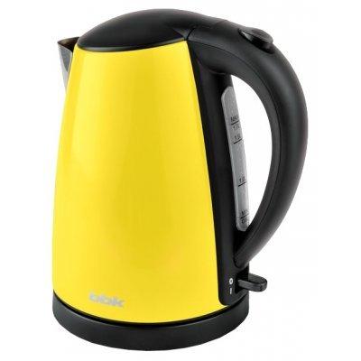 Электрический чайник BBK EK1705S желтый (EK1705S желтый)Электрические чайники BBK<br>Чайник электрический BBK EK1705S 2200Вт, 1,7литра, нержавеюшая сталь, дисковый нагр. элемент, Английский контроллер,желтый<br>