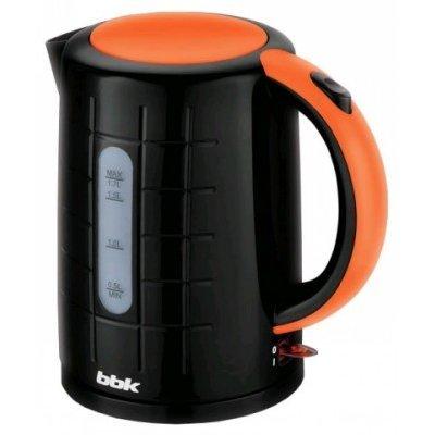 Электрический чайник BBK EK1703P черный/оранжевый (EK1703P черный/оранжевый)Электрические чайники BBK<br>Чайник электрический BBK EK1703P 2200Вт, 1,7литра, пластик, дисковый нагр. элемент, Английский контроллер,черный/оранжевый<br>