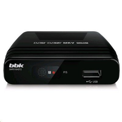 ТВ-тюнер внешний BBK SMP016HDT2 черный (SMP016HDT2 черный)