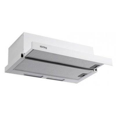Вытяжка Korting KHP 5610 W (KHP 5610 W)Вытяжки Korting<br>кухонная вытяжка<br>встраивается в навесной шкафчик<br>отвод / циркуляция<br>для стандартных кухонь<br>ширина для установки 50 см<br>механическое управление<br>тихий двигатель<br>