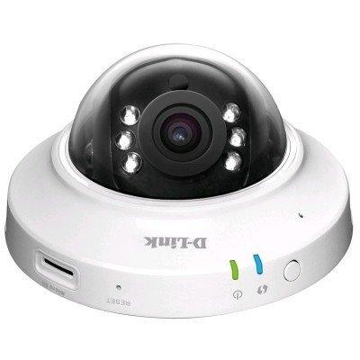 Камера видеонаблюдения D-Link DCS-6005L (DCS-6005L/A1A)Камеры видеонаблюдения D-Link<br>Беспроводная купольная облачная сетевая HD-камера с поддержкой ночной съемки<br>