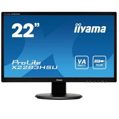 Монитор IIYAMA 21,5 X2283HSU-B1DP (X2283HSU-B1DP)Мониторы IIYAMA<br>PL2283H Монитор LCD 21,5   (16:9) 1920х1080 VA LED-backlit, nonGLARE, 250cd/m2, H178°/V178°, 12М:1, 5ms, VGA, DVI, USB-hub, Speakers, 3Y, Black<br>