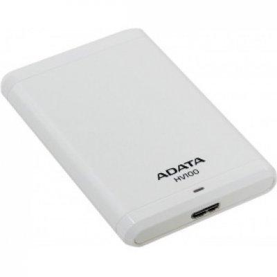 Внешний жесткий диск A-Data HV100 1Tb белый (AHV100-1TU3-CWH) жесткий диск a data classic hv100 1tb usb 3 0 black ahv100 1tu3 cbk