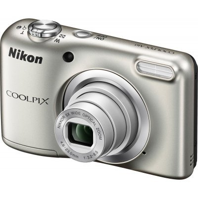 Цифровая фотокамера Nikon Coolpix A10 серебристый (VNA980E1) фотоаппарат nikon coolpix a10 purple purple lineart 16mp 5x zoom sd usb 2 7