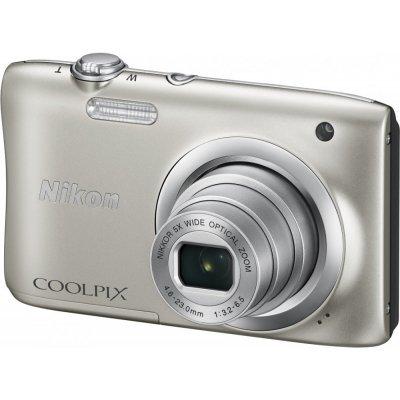 Цифровая фотокамера Nikon Coolpix A100 серебристый (VNA970E1) профессиональная цифровая slr камера nikon d3200 18 55mmvr