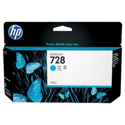 Тонер-картридж для лазерных аппаратов HP 728 для НР DJ Т730/Т830 130-ml Cyan Ink Cart (F9J67A)Картриджи для струйных аппаратов HP<br><br>