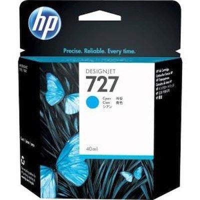Тонер-картридж для лазерных аппаратов HP 727 для НР DJ T920/T1500/2500/930/1530/2530 300-ml Cyan Ink Cart (F9J76A) hp hp 920