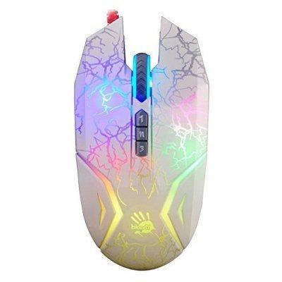 Мышь A4Tech Bloody N50 Neon (N50)Мыши A4-Tech<br>Мышь A4 Bloody N50 Neon белый оптическая (4000dpi) USB2.0 игровая (7but)<br>