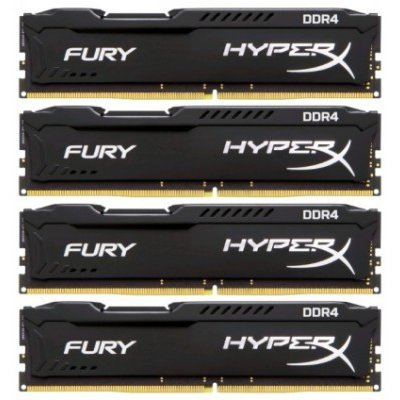 Модуль оперативной памяти ПК Kingston HX426C15FBK4/32 32Gb DDR4 (HX426C15FBK4/32)Модули оперативной памяти ПК Kingston<br>Kingston 32GB 2666MHz DDR4 Non-ECC CL15 DIMM (Kit of 4)HyperX FURY Black Series<br>