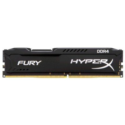 Модуль оперативной памяти ПК Kingston HX424C15FB/8 8Gb DDR4 (HX424C15FB/8)Модули оперативной памяти ПК Kingston<br>Kingston 8GB 2400MHz DDR4 CL15 DIMM HyperX FURY Black<br>