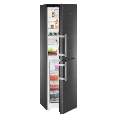 Холодильник Liebherr CNbs 3915-20 001 (CNbs 3915-20 001)Холодильники Liebherr<br>Холодильник Liebherr/ 201.1x60х63, объем камер 221+120, No Frost, дисплей, морозильная камера нижняя, черная нержавеющая сталь<br>