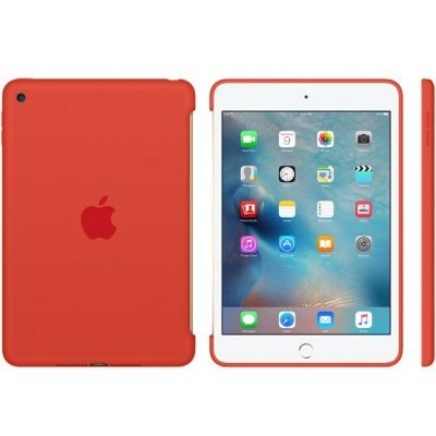 Чехол для планшета Apple iPad mini 4 Silicone Case оранжевый (MLD42ZM/A) apple apple silicone case