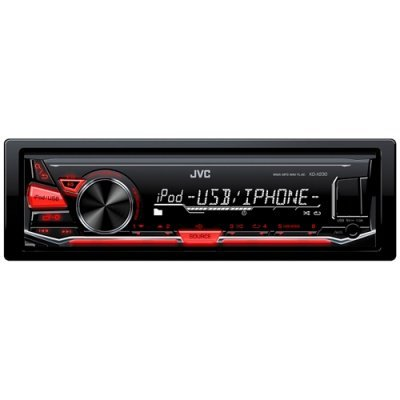 Автомагнитола JVC KD-X230 (KD-X230)Автомагнитолы JVC<br>Мощность 4 x 50 Вт Воспроизведение MP3, FLAC, WMA, WAV Воспроизведение и зарядка с USB Воспроизведение IPOD / iPhone<br>