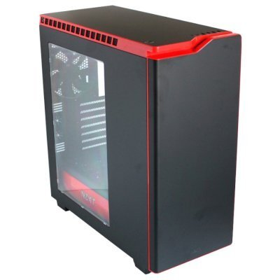 Корпус системного блока NZXT H440 Black/red (CA-H442W-M1)Корпуса системного блока NZXT<br>Корпус NZXT H440 2015 Window черный/красный w/o PSU ATX 2x120mm 2x140mm 2xUSB2.0 2xUSB3.0 audio front door bott PSU<br>