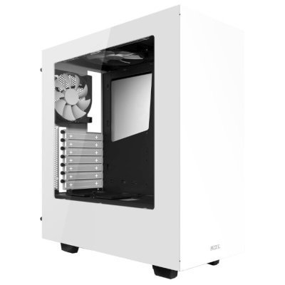 Корпус системного блока NZXT S340 White (CA-S340W-W1)Корпуса системного блока NZXT<br>Корпус NZXT S340 белый w/o PSU ATX 3x120mm 3x140mm 2xUSB3.0 audio bott PSU<br>