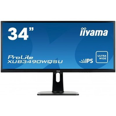 Монитор IIYAMA 34 XUB3490WQSU-B1 (XUB3490WQSU-B1)Мониторы IIYAMA<br>Монитор Iiyama 34 XUB3490WQSU-B1 черный AH-IPS LED 5ms 16:9 HDMI M/M матовая HAS Pivot 320cd 178гр/178гр 3440x1440 DisplayPort USB 8.5кг<br>