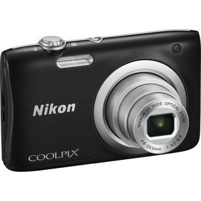 Цифровая фотокамера Nikon Coolpix A100 черный (VNA971E1) профессиональная цифровая slr камера nikon d3200 18 55mmvr