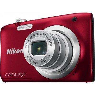 Цифровая фотокамера Nikon Coolpix A100 красный (VNA972E1) профессиональная цифровая slr камера nikon d3200 18 55mmvr