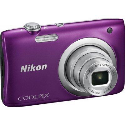 Цифровая фотокамера Nikon Coolpix A100 фиолетовый (VNA973E1) профессиональная цифровая slr камера nikon d3200 18 55mmvr