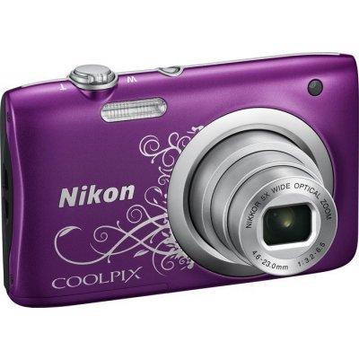 Цифровая фотокамера Nikon Coolpix A100 фиолетовый Lineart (VNA974E1) профессиональная цифровая slr камера nikon d3200 18 55mmvr
