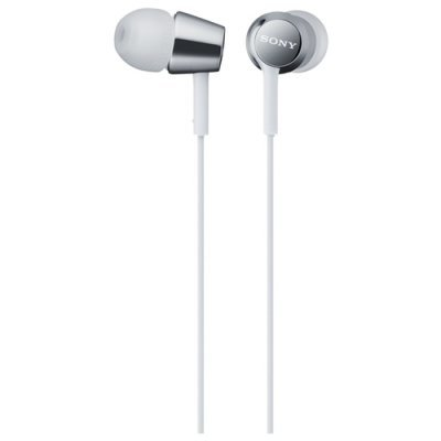 Наушники Sony MDR-EX150AP белый (MDREX150APW.E) наушники sony mdr ex150ap с микрофоном