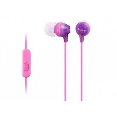 Наушники Sony MDR-EX15AP фиолетовый (MDREX15APV.CE7) наушники sony mdr ex150ap с микрофоном