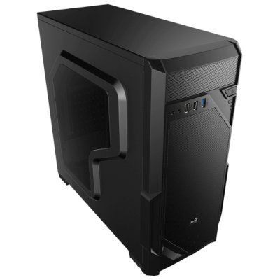 Корпус системного блока Aerocool VS-1 Black (4713105958065) корпус nzxt phantom 630 черный w o psu atx 2xusb2 0 2xusb3 0 audio cardreader front door bott psu