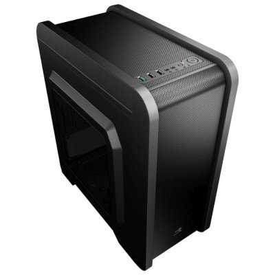 Корпус системного блока Aerocool Qs-240 Black (4713105958102) корпус системного блока corsair carbide series 300r black w o psu cc 9011014 ww