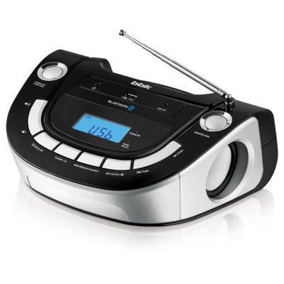 Аудиомагнитола BBK BS07BT черный/серебристый (BS07BT черный/серебристый) аудиомагнитола bbk bx900bt черный bx900bt