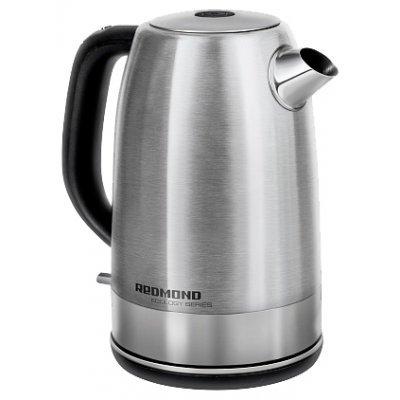 Электрический чайник Redmond RK-M149 (RK-M149)Электрические чайники Redmond<br>чайник<br>объем 1.7 л<br>мощность 2200 Вт<br>дисковый нагреватель<br>установка на подставку в любом положении<br>стальной корпус<br>индикация включения<br>